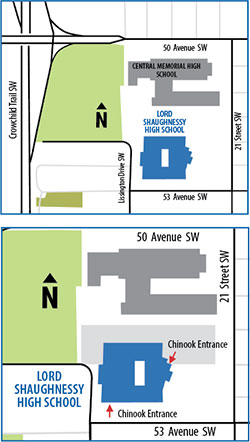 Lord Shaughnessy High School Map